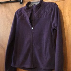 Purple zip up fleece